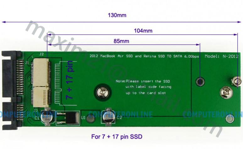 переходник SSD to SATA  N-2012