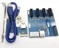 переходник PCI-E to 4 PCI-E