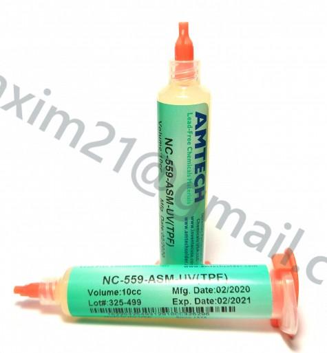 Флюс Amtech NC-559-ASM-UV(TPF) 10cc (другой тип тубы)