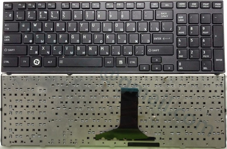 Клавиатура Toshiba A660 черная с фреймом