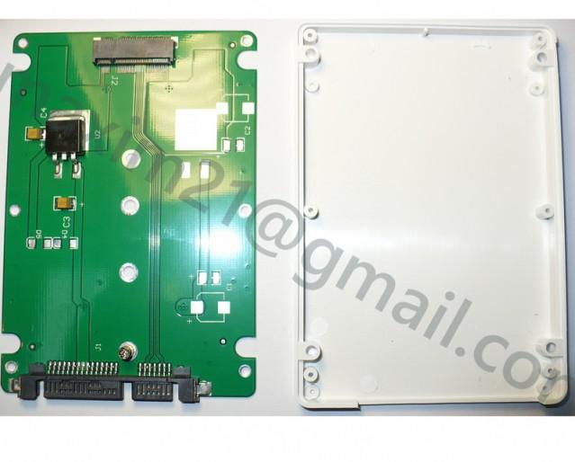 """M.2 (NGFF) """"B"""" key SSD to Standard 2.5"""" SATA III Box"""