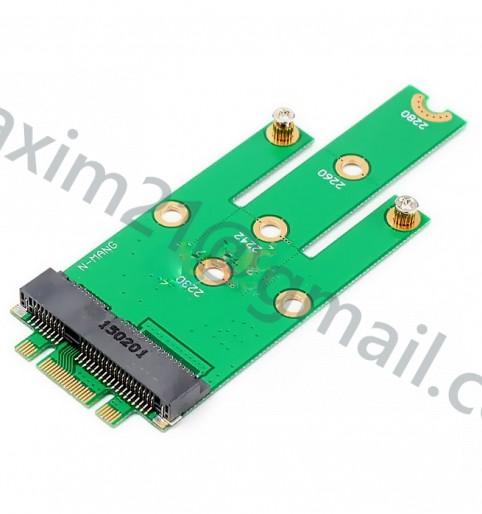Адаптер SSD жёстких дисков mSATA PCIeX в разъеме NGFF M.2