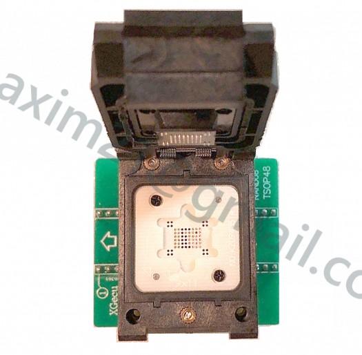 адаптер BGA63 ZIF NAND для TL866II plus программатора