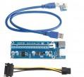переходник PCI-E 1x to PCI-E 16x