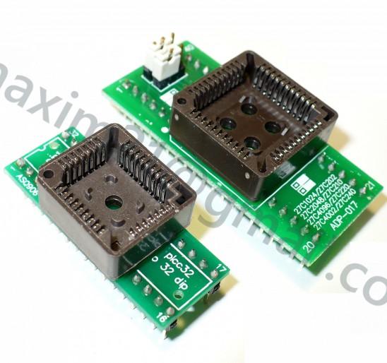 адаптеры для программаторов   PLCC32-DIP32 PLCC44 TO DIP40