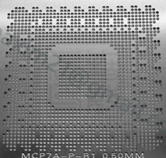 трафарет прямого нагрева (в размер чипа)  MCP79MXD-B2 MCP79MXT-B2 MCP7A-A1