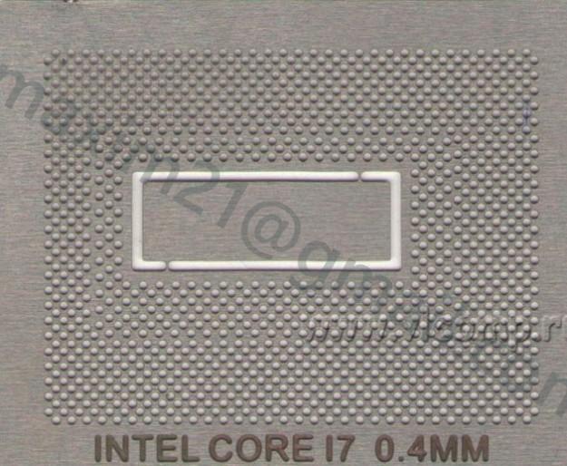 Трафарет для CPU Intel Core i7 BGA1224  Core i7 3615QM