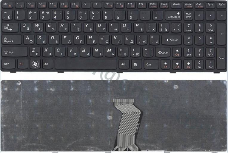 Клавиатура Lenovo IdeaPad G580 G585 Z580 Z585 RU черная с фреймом черным