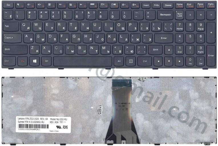 Клавиатура Lenovo G50-70 черная