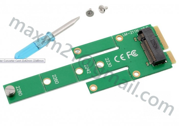 NGFF M.2 B Key SATA-Based SSD MSATA Adapter Converter Card