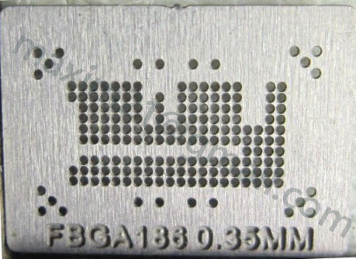 трафарет прямого нагрева FBGA186