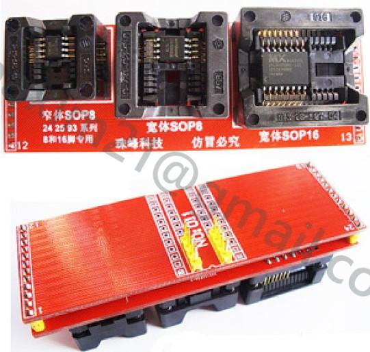 ZIF адаптер 3 в одном SOIC8-DIP8 ZIF