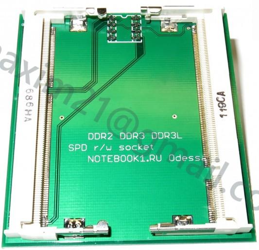 переходник DDR2-DDR3-DDR3L SPD в DIP 8