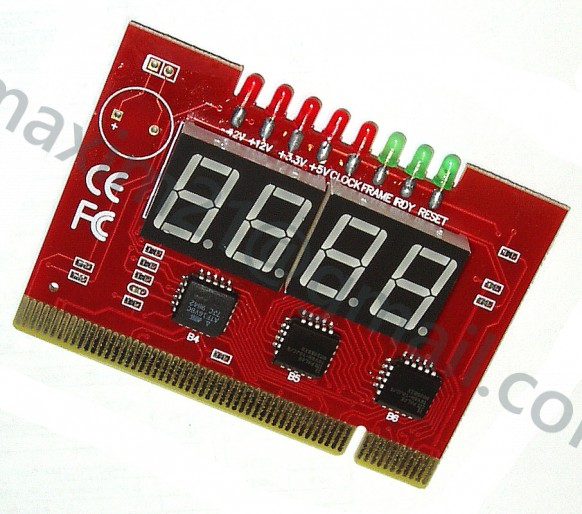 PCI Motherboard Analyzer Diagnostic POST Card 4 Digit